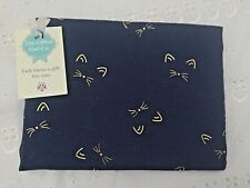 CAT'S WHISKERS SCARF NAVY BLUE GOLD SCARF KITTEN CATS MUM GIFT FRIEND PRESENT
