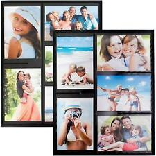 Wind Sea Magnetic Picture Collage Frame for Refrigerator 2-Pack Black