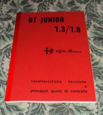 Alfa Romeo GT 1300 1600 Junior 1.3 1.6 Junior Manuale officina workshop manual