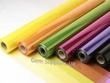 MIXED TINTED CELLOPHANE MULTIPACK 20 Metres x 7 Rolls Gift Film Wrap Bouquet