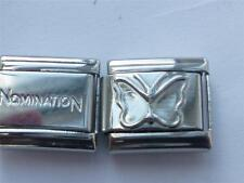 GENUINE NOMINATION LINK CLASSIC ITALIAN CHARM + UNBRANDED BUTTERFLY CHARM AE8