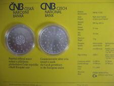 La república checa 2009 200 coronas moneda de plata coin St bu-ue-presidencia -