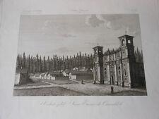 1845 INCISIONE ZUCCAGNI ORLANDINI VEDUTA DELL'EREMO DEI CAMALDOLI AREZZO TOSCANA