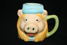 "Collectable Sesame Street MS PIGGY Coffee MUG 4"" Muppets Cup Handmade Crazing"