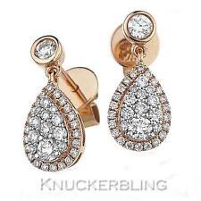 Rose Gold 18 Carat Fine Diamond Earrings