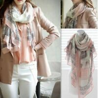 Women Scarf Fashion Eiffel Tower Printing Elegant Fresh Scarves Voile Shawl