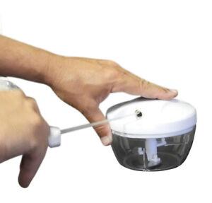 Manual Food Chopper Hand Held Vegetable Onion Blender Mincer Mixer Processor
