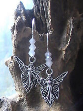 pagan goddess earrings BLESSED Angel fairy guardian