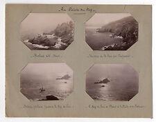 PHOTOS La Pointe du Raz Rocher Baie des Trépassés Bateau Pêcheur Phare vers 1900