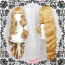 Harajuku Kawaii Blond Gradient Wig Mixed Lolita Curly Hair Daily Gothic 100cm JP