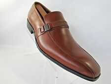 New Kenneth Cole REACTION Save-TY First Sz 11 M Cognac Slip-On Loafer Mens Shoes