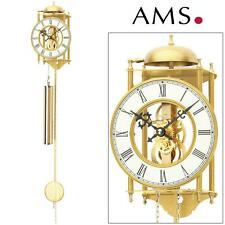 AMS 303 Wall Clock with Pendulum, Case Brass Pendulum Living Room