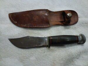 Vintage Case Hunting Knife and Leather Sheath made in USA