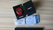 Casio Illuminator Alarm Chronograph Watch W-214HC 3225 RED Used Retro Style!