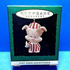 "Hallmark ""Hamton"" Pig Tiny Tunes Miniature Ornament 1994"