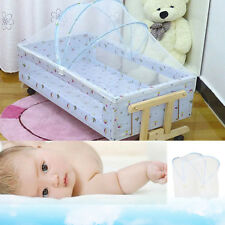 Safety Mosquito Net For Cot Crib Baby Bed Canopy Netting Mesh Curtain Arched Net