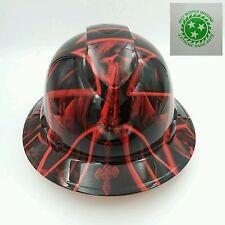New Custom PYRAMEX (Full Brim) Hard Hat W/RATCHET SUSPENSION XL GRIM REAPER