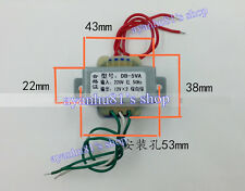 220V AC Power Supply Transformer 12V*2 Double 12V AC 5W For Amplifier AMP