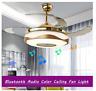 "Modern 42"" Bluetooth Remote Control Ceiling Fan Light Chandelier w/ Music Player"