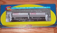 ATHEARN 92398 50' FLAT WITH TWO 25' TRAILERS DRGW 20032