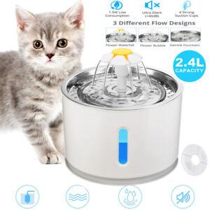 2.4L Trinkbrunnen Haustier Automatisch Wasserspender für Katzen Hunde mit Filter