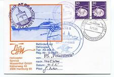 Polarstern Posted at Sea Helicopter Gronland Hamburg Polar Arctic Cover SIGNED