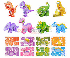 6 Dinosaur 3D Puzzles - Pinata Toy Loot/Party Line Fillers Wedding/Kids Game
