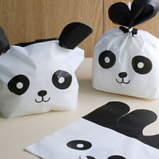50 Plastic Gift Bags Cute Panda Printed Biscuit Cookie Bakery Candy Wrapping Bag