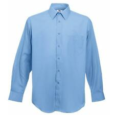 Fruit of the Loom Men's Cotton Long Sleeve Casual Shirts & Tops