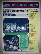 West Ham United 2 Liverpool 1 - 2016 FA Cup - souvenir print