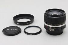 【Exc++++】 Nikon Nikkor Ai-s 24mm f/2.8 ais MF Lens w/ HN-1 Hood from Japan #46