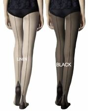 f0b36e7fea6708 Fiore Sin Cuban Style heel and Back Seam Tights 20 Denier Seamed Patterned