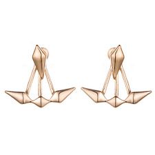 Fashion Women Gold Silver Geometry Rhombus Ear Stud Eardrop Earring Jewelry Gift