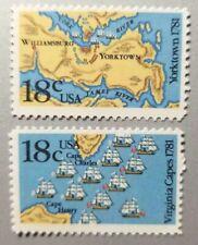 US Stamp Scott #1937-38 – 1981 18c Battles of Yorktown and Virginia New MNH