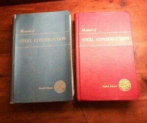 2 Manual of Steel Construction Seventh 7th Edition & Eighth 8th AISC Indexed
