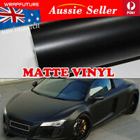 Bubble Free Vinyl Film Wrap Polish Matte Black Cars Auto Body Overlay 1.5Mx30CM