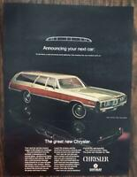 ORIGINAL 1968 Chrysler Town & Country Station Wagon for 1969 PRINT AD