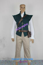 Tangled Flynn Rider Cosplay Costume dark green version whole set Male L,Male S