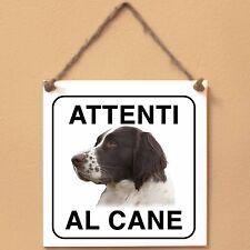 Drentse Patrijshond 2 Attenti al cane Targa cane cartello ceramic tiles