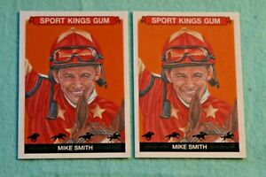 MIKE SMITH LOT OF 2 2021 SPORTKINGS #66 HORSE RACING