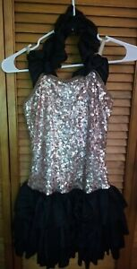 Curtain Call Costumes Womens Dance Costume Size AME Adult Medium Sparkle Sequins