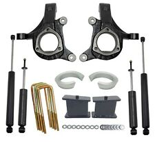 "5"" Lift Kit Chevy 1999-06 1500 2wd Truck 3"" Spindles 2"" Spacers 3"" Blocks Shocks"