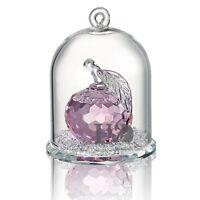Pink Crystal Apple Figurine Hanging Deco Pendant Xmas Wedding Gift Ornaments