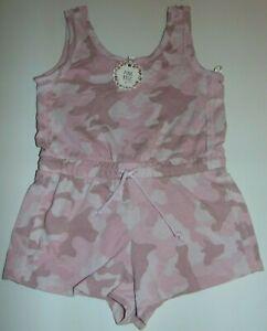 ~NWT Girls PINK ROSE Camo Shorts Romper! Size M 10-12 Super Cute FS:)~