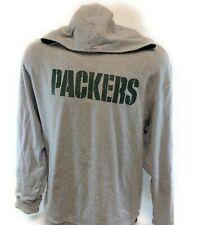 Mens Green Bay Packers NFL Reebok Reversible Hooded Football Sweatshirt NWOT