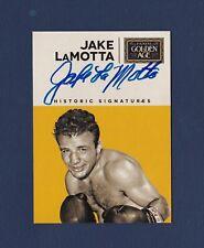Jake LaMotta signed 2014 Panini Golden Age Historic Signatures boxing card
