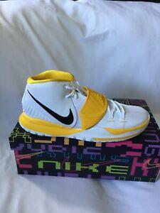 Kyrie 6 TB Promo  Basketball Shoes-White Black Yellow - Size 15- CW4142 100