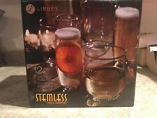 Libbey Stemless 12-pc Wine/Champagne/Water Clear Glass Party Set