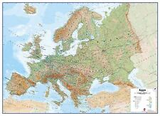 Europe Physical Wall Geographical Map - Rollerblind, Acrylic & Magnet Board