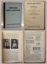 Krause Zinck Mitteldeutsche Blätter für Volkskunde 2. Jg. 1927 Sachsen Ortskunde